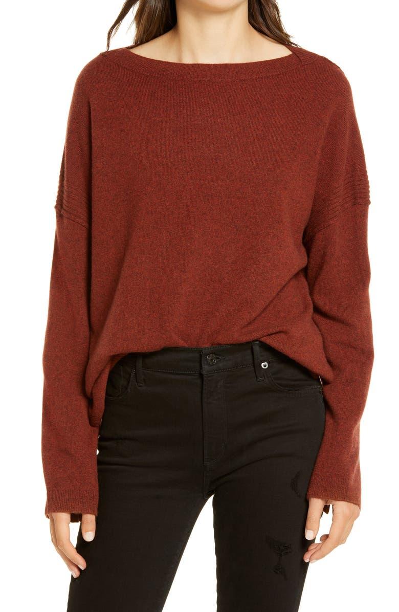 ALLSAINTS Tara Cashmere & Wool Sweater, Main, color, CINNAMON MARL