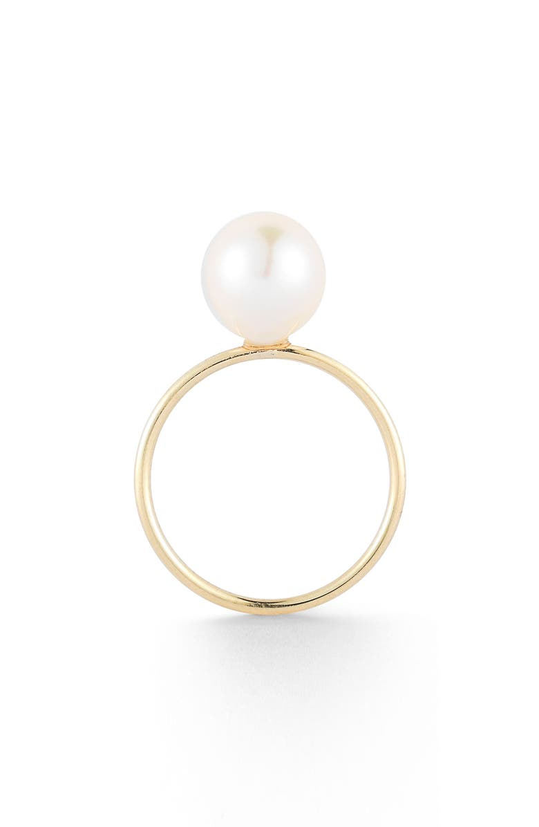 MIZUKI Sea of Beauty Keshi Pearl Ring, Main, color, YELLOW GOLD/ WHITE PEARL