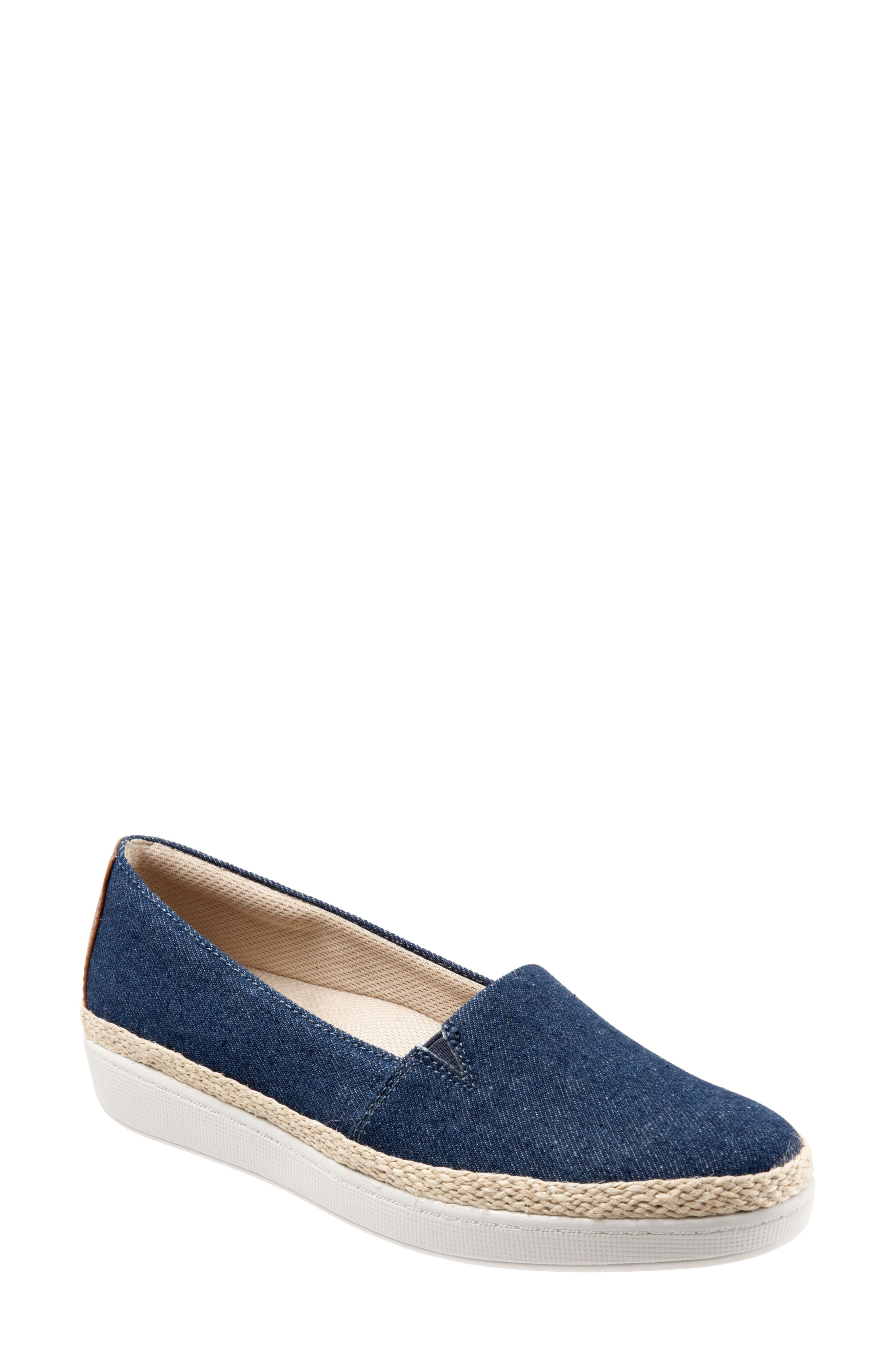 Trotters Accent Slip-On, WW - Blue