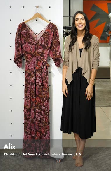 The Jagger Floral Wrap Gown, sales video thumbnail