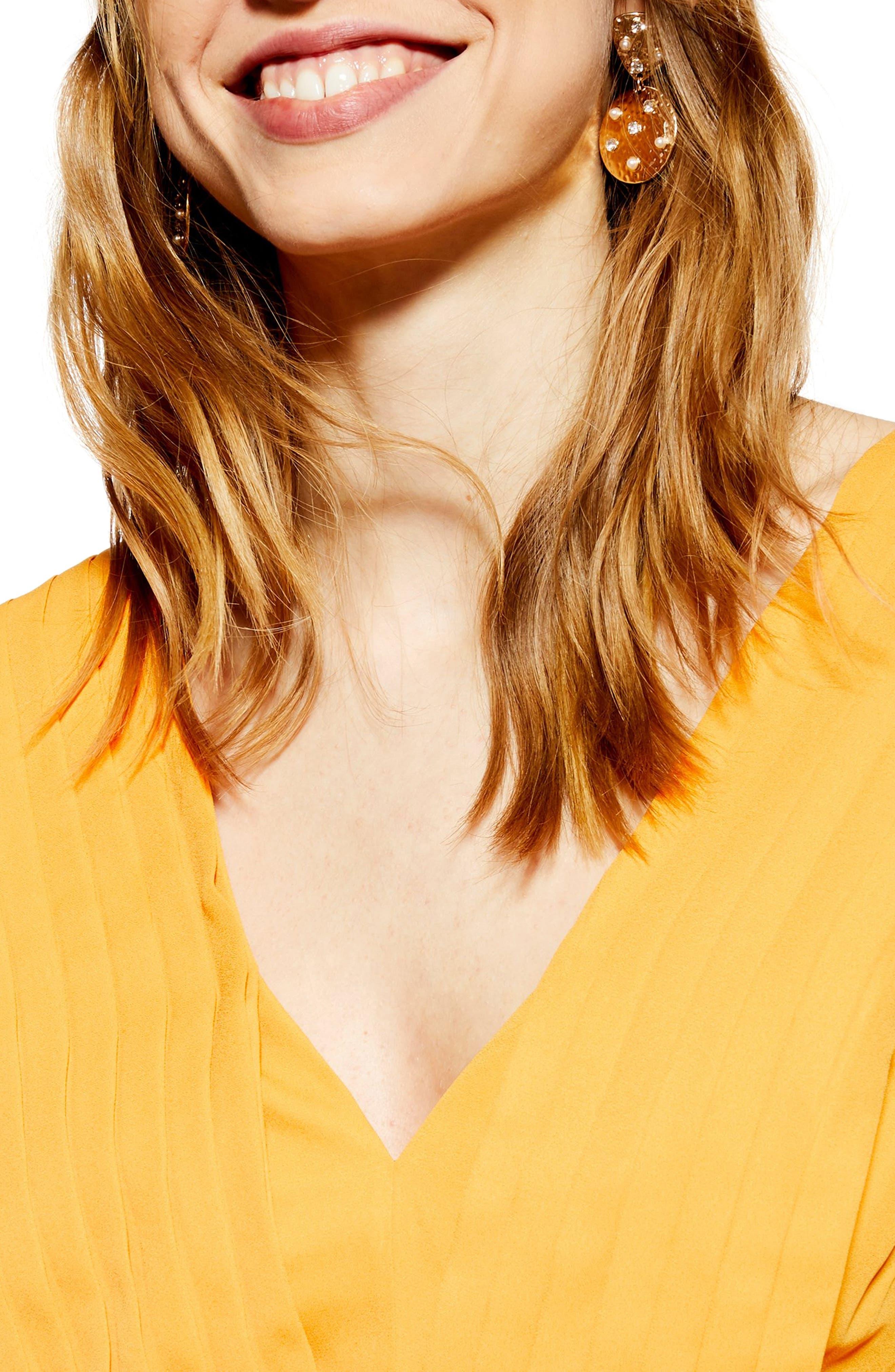 ,                             Pleated Pinafore Midi Dress,                             Alternate thumbnail 12, color,                             700