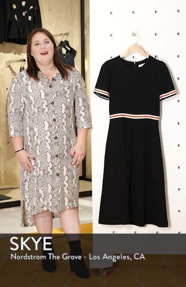 Stripe Trim Midi Dress, sales video thumbnail