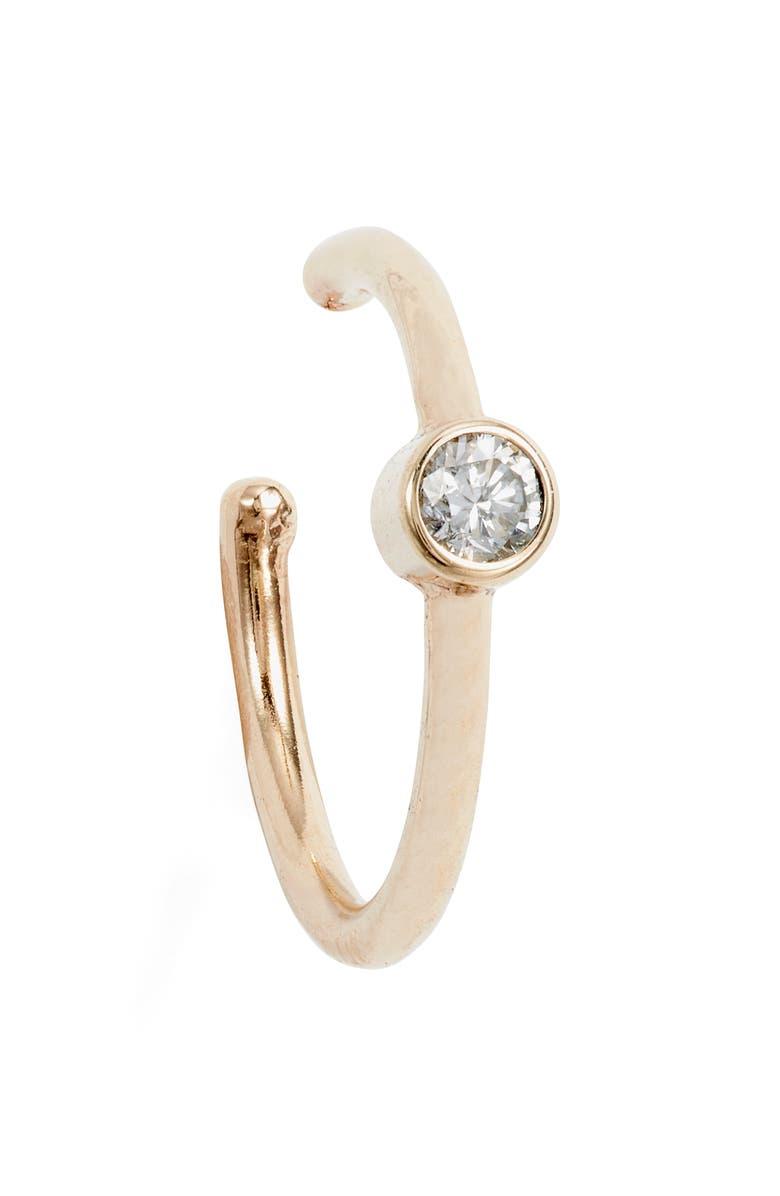 ZOË CHICCO Diamond Ear Cuff, Main, color, YELLOW GOLD/ DIAMOND