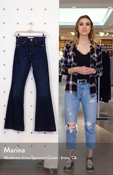 Jamie Split Hem Flare Leg Jeans, sales video thumbnail