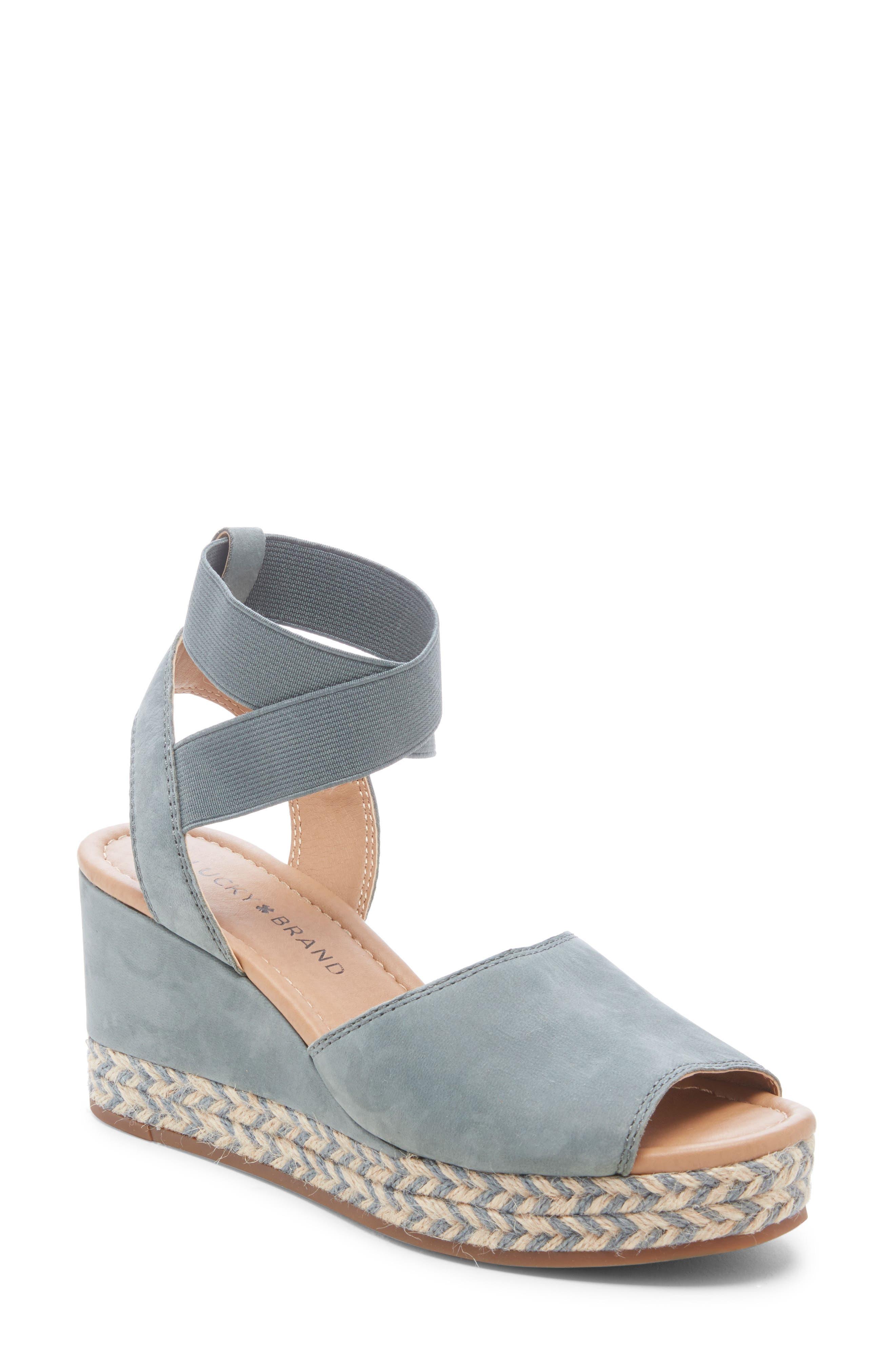 Lucky Brand Bettanie Espadrille Wedge Sandal, Blue