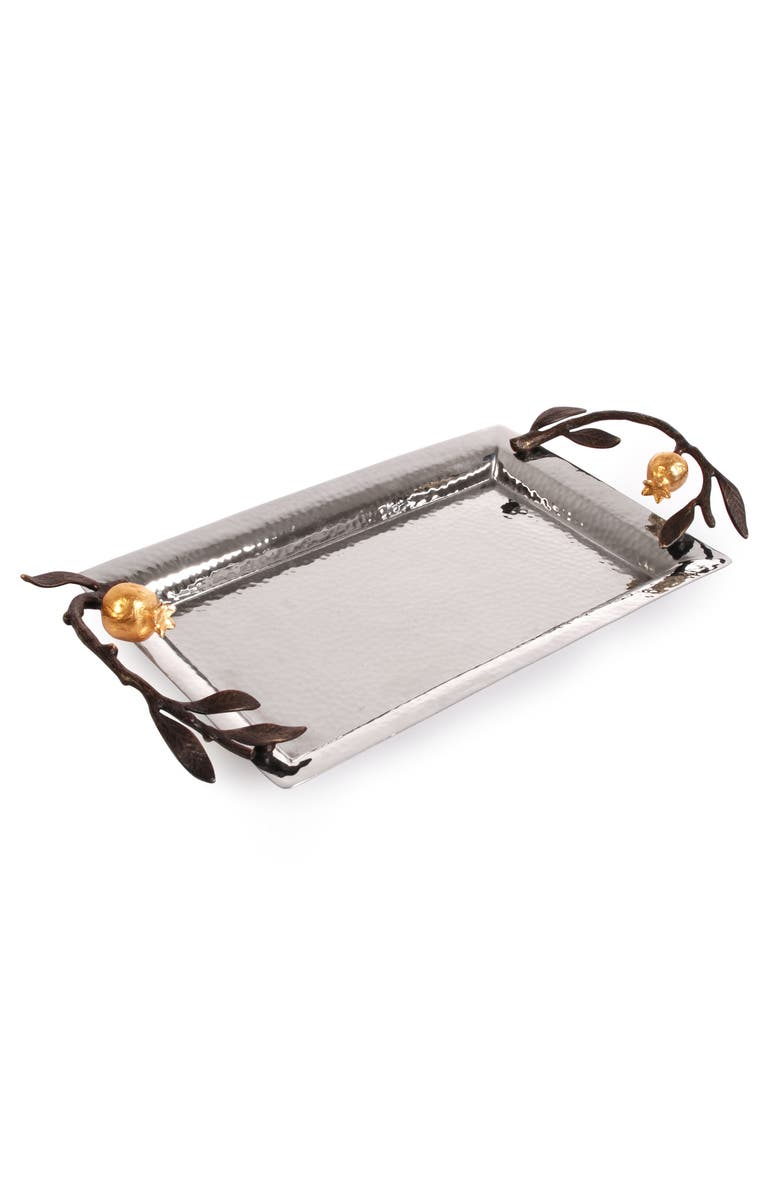 MICHAEL ARAM Pomegranate Mini Tray, Main, color, SILVER/ GOLD/ BLACK