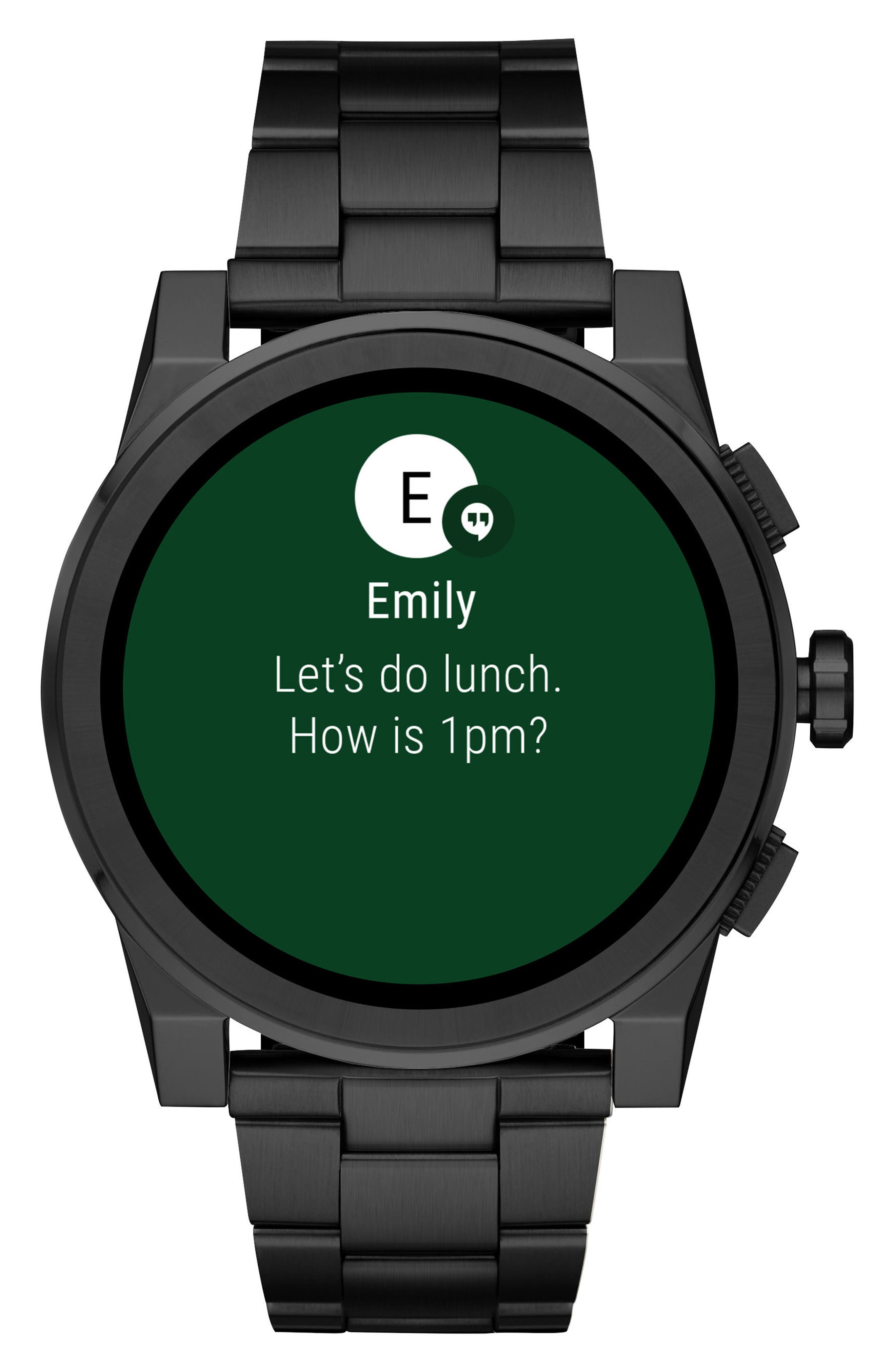 ,                             Grayson Smart Bracelet Watch, 47mm,                             Alternate thumbnail 5, color,                             BLACK