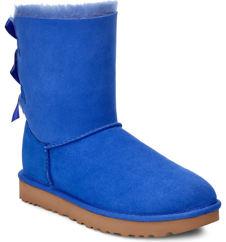 UGG<SUP>®</SUP> Bailey Bow II Genuine Shearling Boot, Main, color, DEEP PERIWINKLE