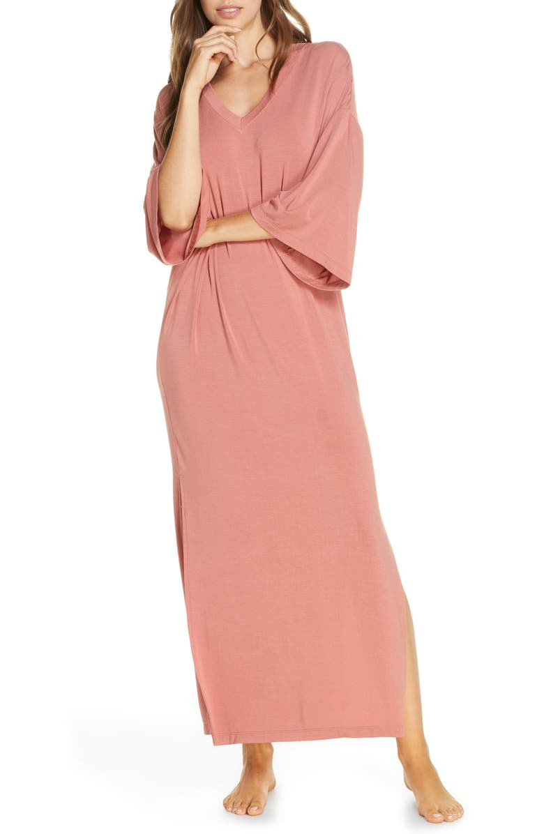 NORDSTROM Moonlight Caftan, Main, color, PINK CANYON