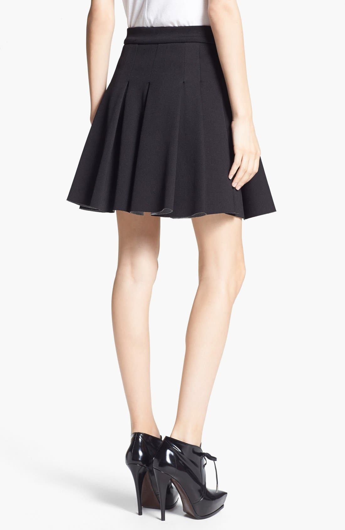 ,                             T by Alexander Wang Bonded Jersey & Neoprene Skirt,                             Alternate thumbnail 2, color,                             001