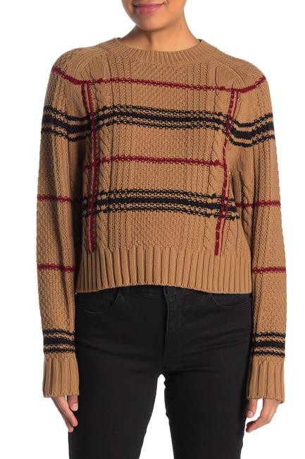 Image of 360 Cashmere Ella Plaid Sweater