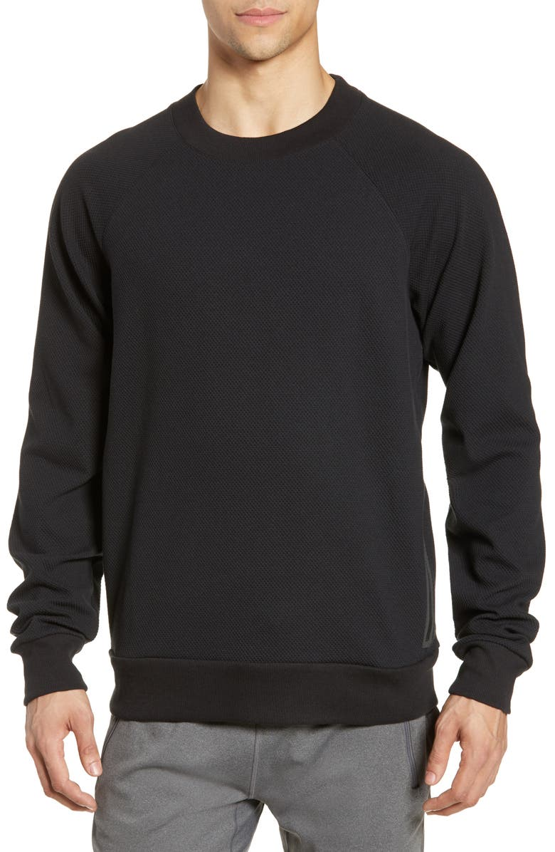ALO Impel Raglan Sweatshirt, Main, color, BLACK