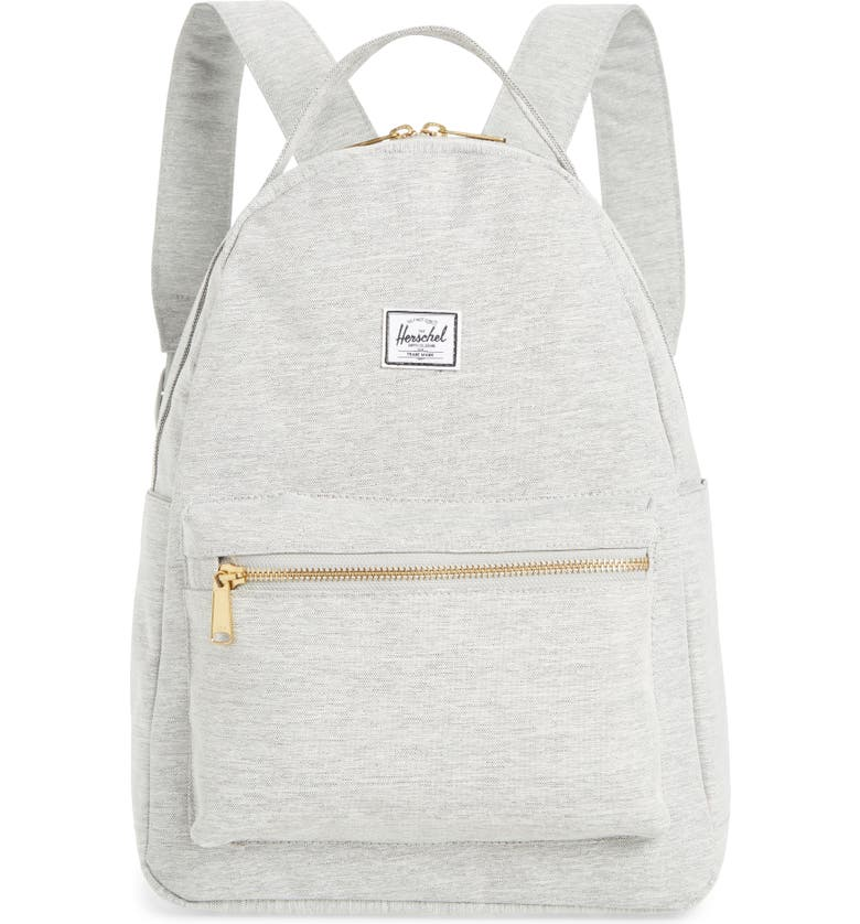HERSCHEL SUPPLY CO. Nova Mid Volume Backpack, Main, color, LIGHT GREY CROSSHATCH