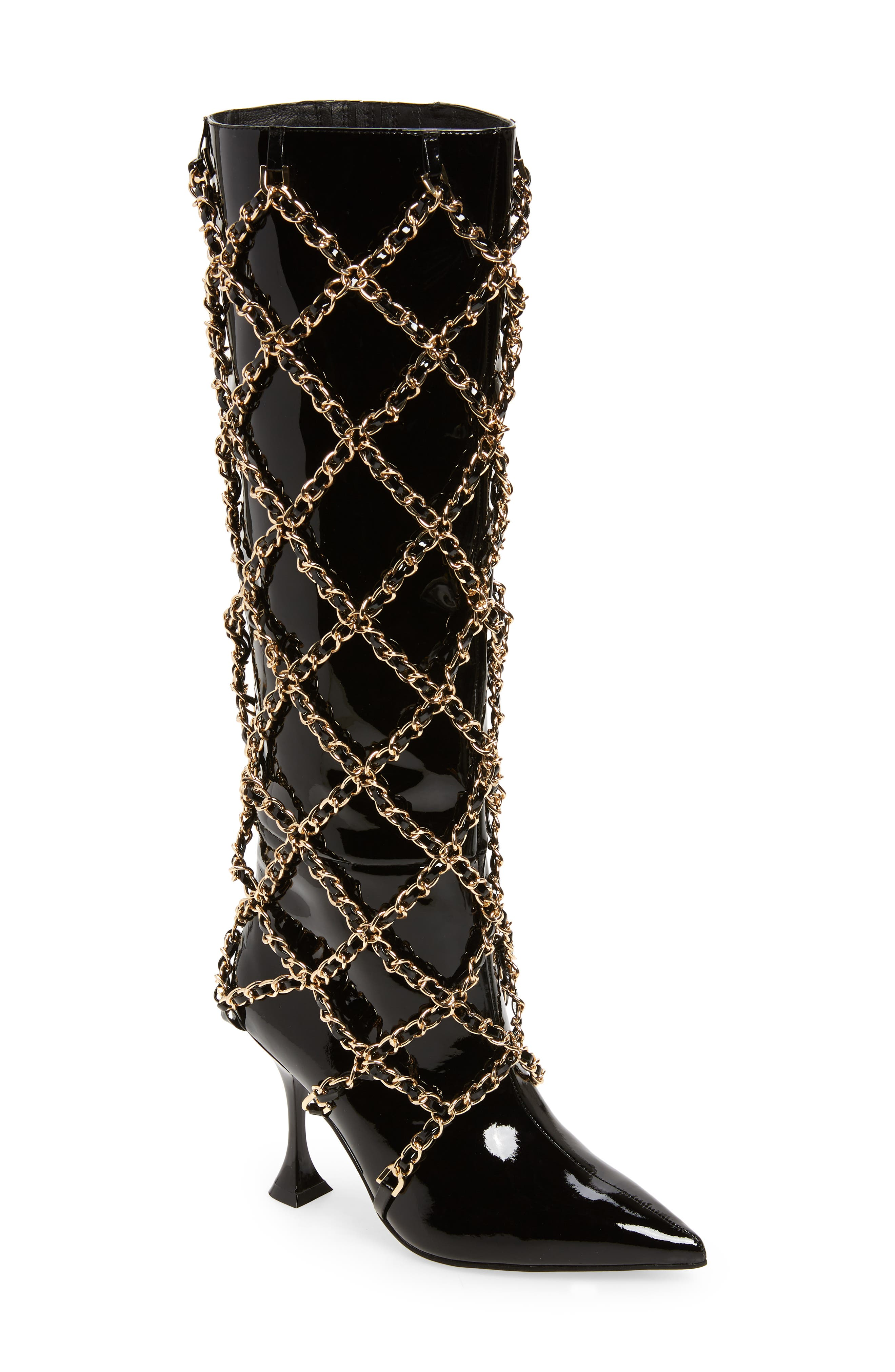 Women's Jeffery Campbell Armor Caged Boot