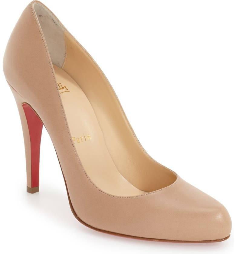 CHRISTIAN LOUBOUTIN Décolleté 868 Pump, Main, color, NUDE LEATHER