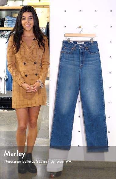 Ribcage Super High Waist Straight Leg Jeans, sales video thumbnail