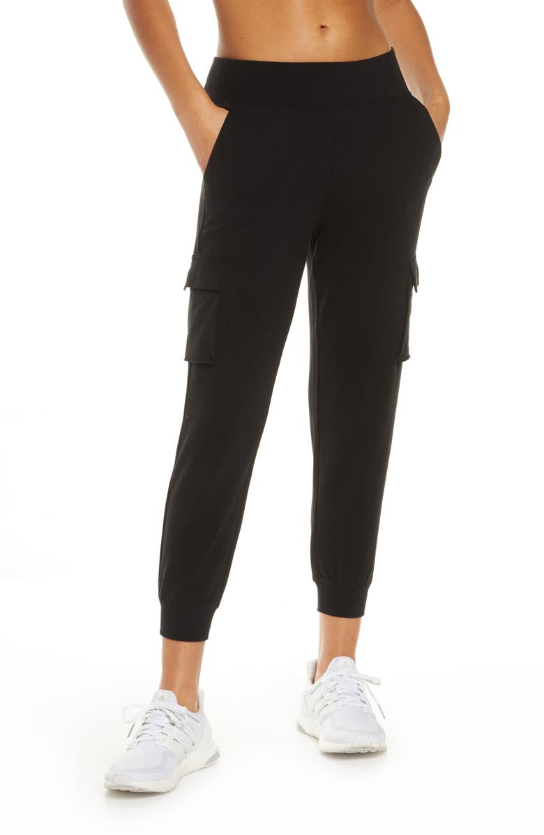 ALO High Waist Crop Jogger Pants, Main, color, 001