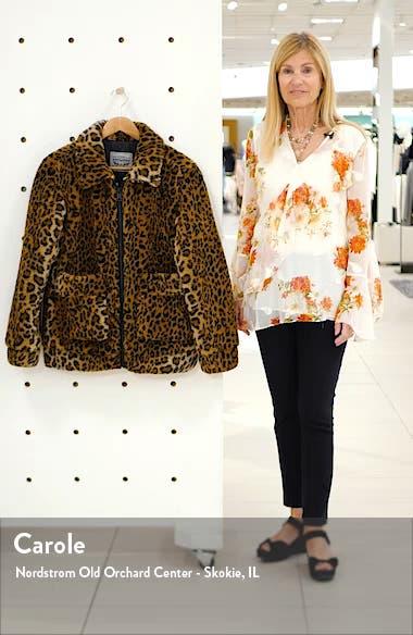 Leopard Print Faux Fur Jacket, sales video thumbnail