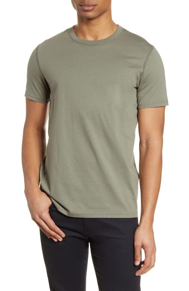 REIGNING CHAMP Short Sleeve Slim Fit Crewneck T-Shirt, Main, color, SAGE