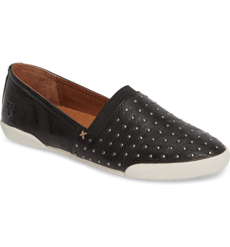 FRYE Melanie Stud Slip-On Sneaker, Main, color, 001