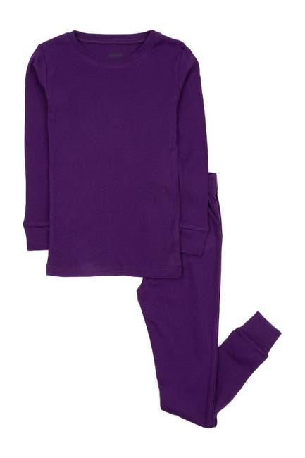 Image of Leveret Dark Purple Two-Piece Cotton Pajamas