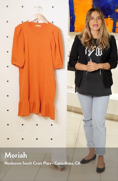 Landry Puff Sleeve Sweatshirt Dress, sales video thumbnail