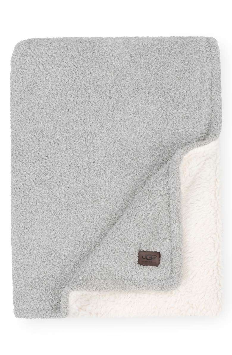 UGG<SUP>®</SUP> Ana Faux Shearling Throw, Main, color, SEAL GREY