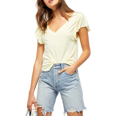 Free People Effortless Shirt, Yellow