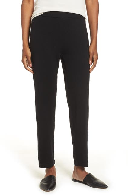 Image of Eileen Fisher Merino Wool Ankle Pants