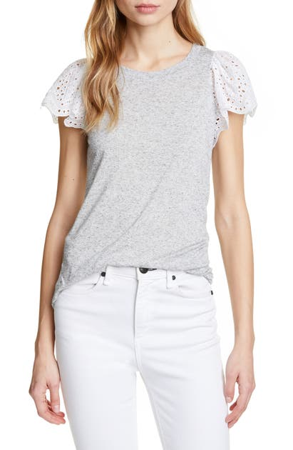 Rebecca Taylor Tops EYELET SLEEVE TOP