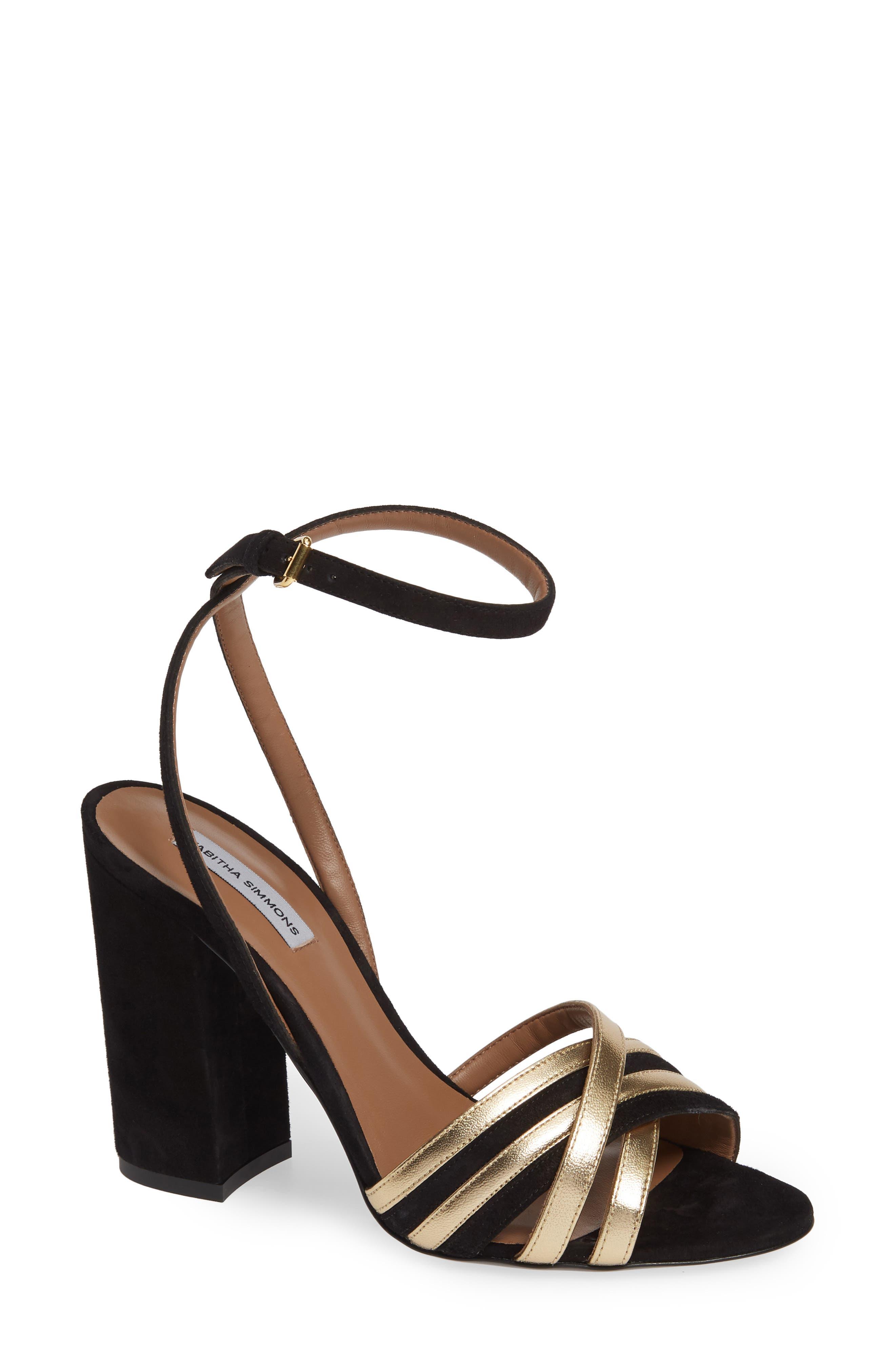 Tabitha Simmons Toni Block Heel Sandal, Black