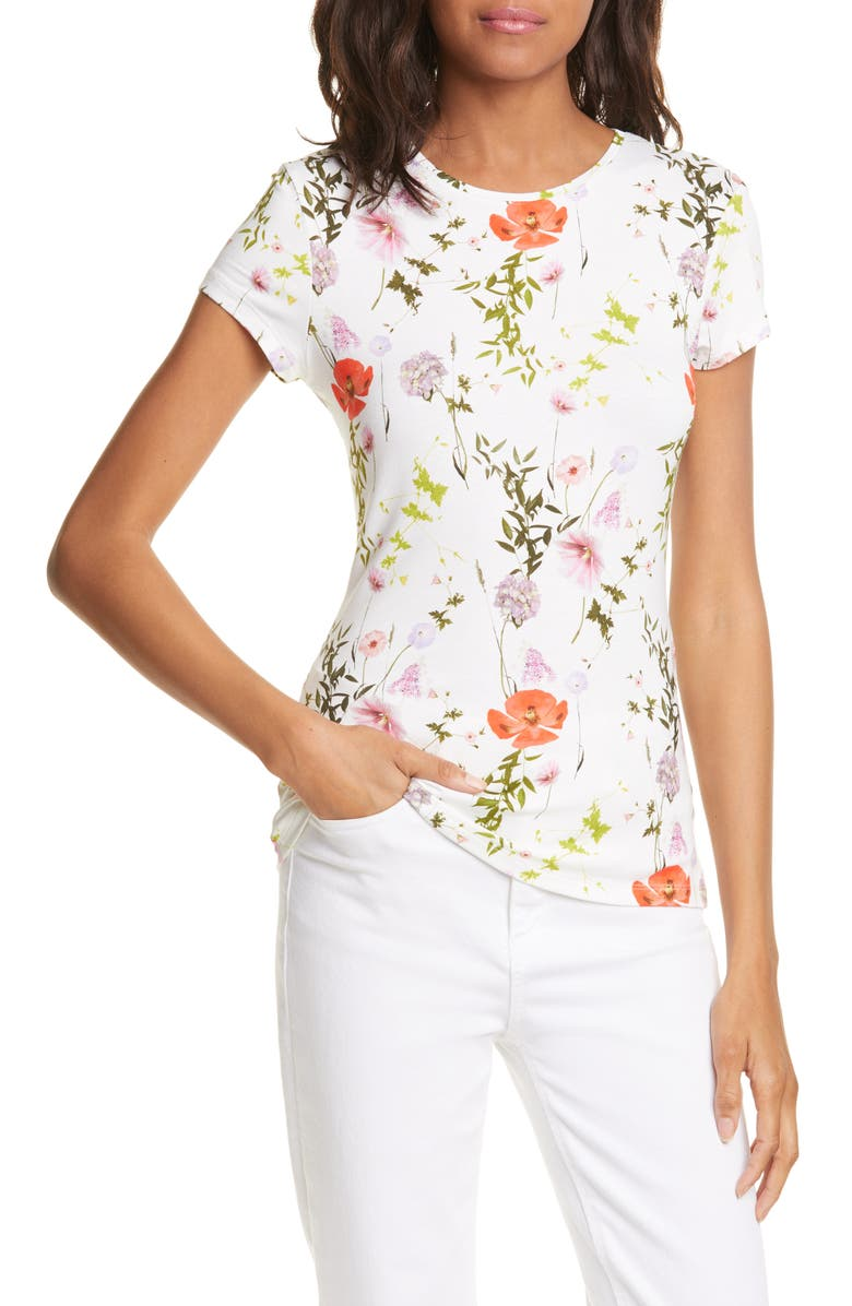 TED BAKER LONDON Hedgerow Fitted Tee, Main, color, 110