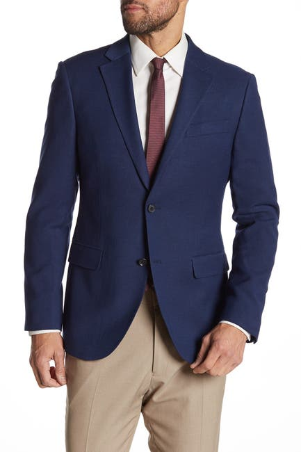 Nordstrom Rack Men's Woven Two-Button Notch Lapel Sport Coat (Blue Oasis)