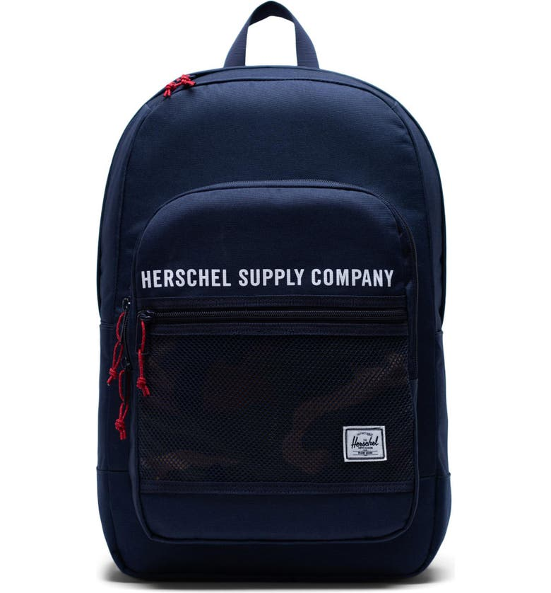 HERSCHEL SUPPLY CO. Kaine Backpack, Main, color, PEACOAT/ WOODLAND CAMO