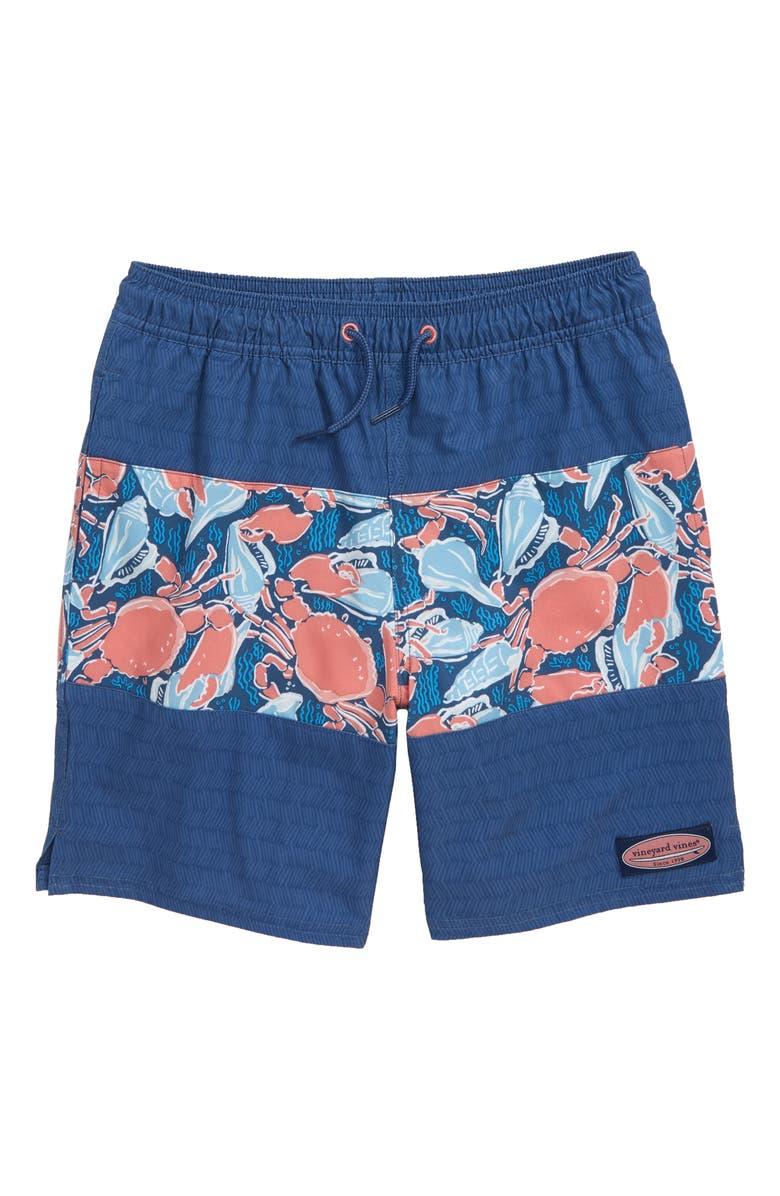 VINEYARD VINES Pieced Chappy Swim Trunks, Main, color, MOONSHINE