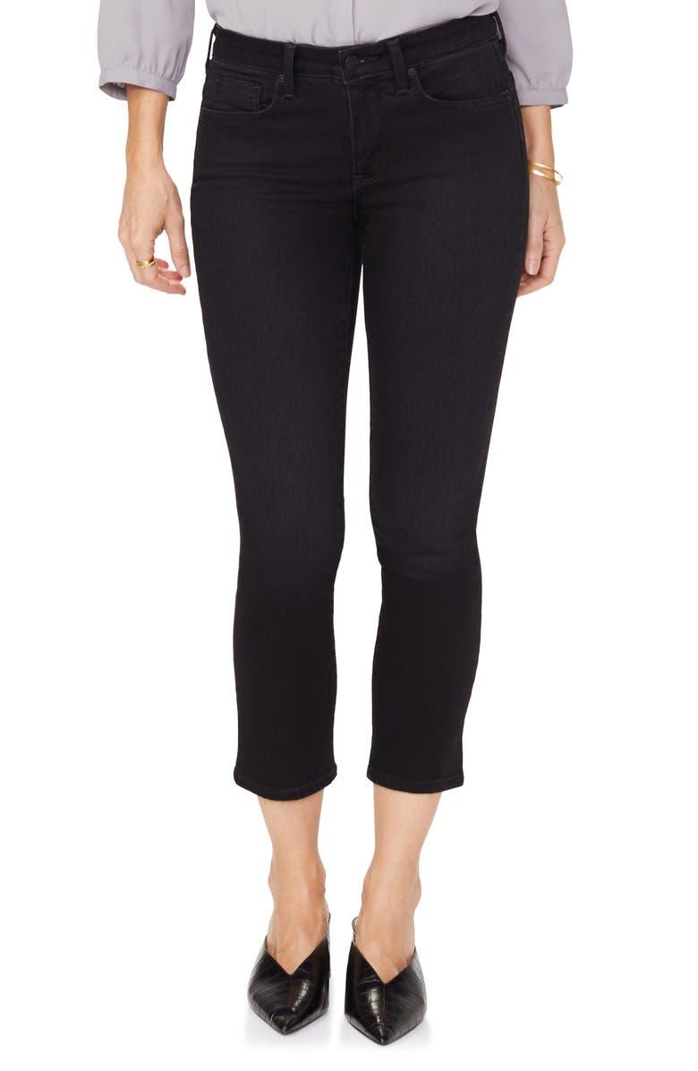 NYDJ Sheri Snap Back Slim Stretch Ankle Jeans, Main, color, TAMBOR