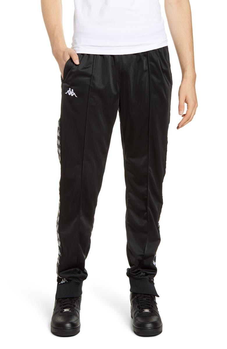 KAPPA 222 Banda Rastoriazz Slim Fit Track Pants, Main, color, BLACK