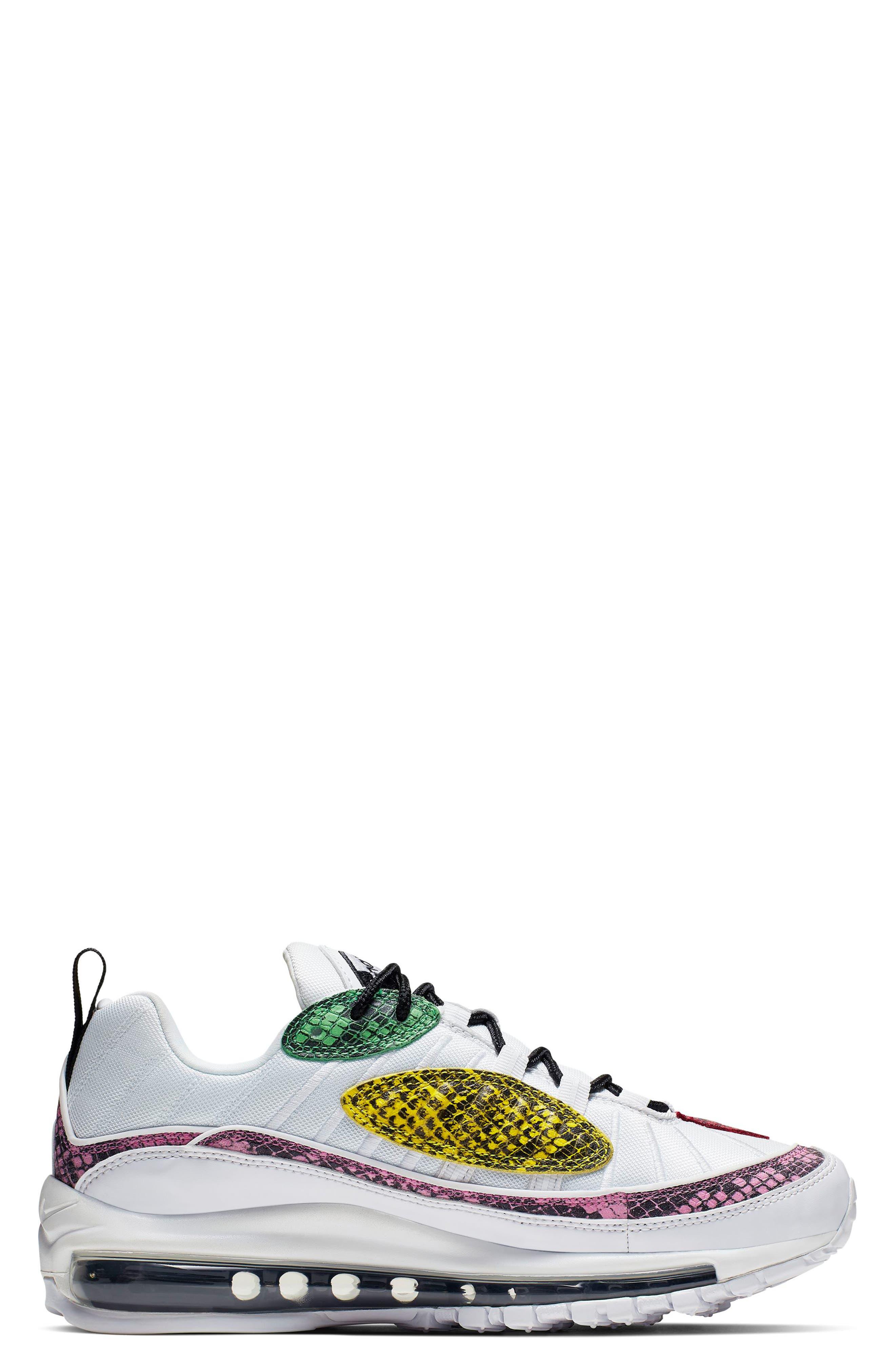 ,                             Air Max 98 Premium Sneaker,                             Alternate thumbnail 6, color,                             WHITE/ BLACK