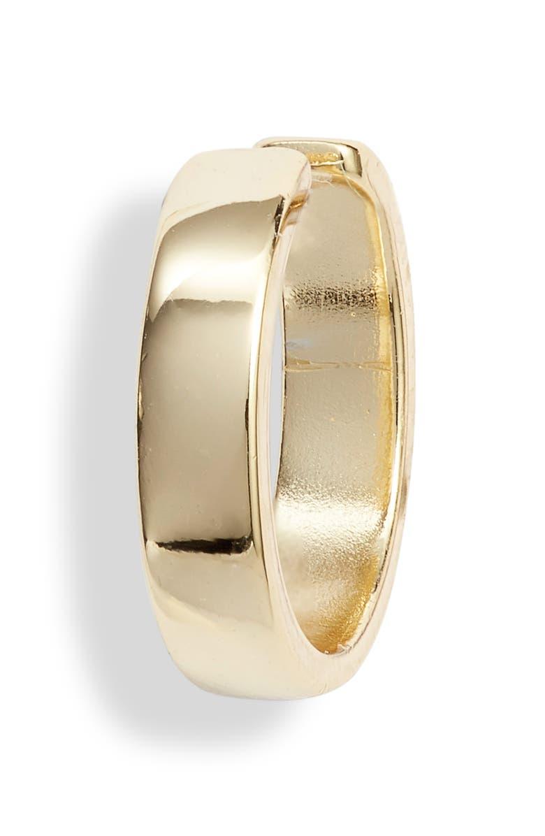 ARGENTO VIVO Capri Sterling Silver Ear Cuff, Main, color, GOLD