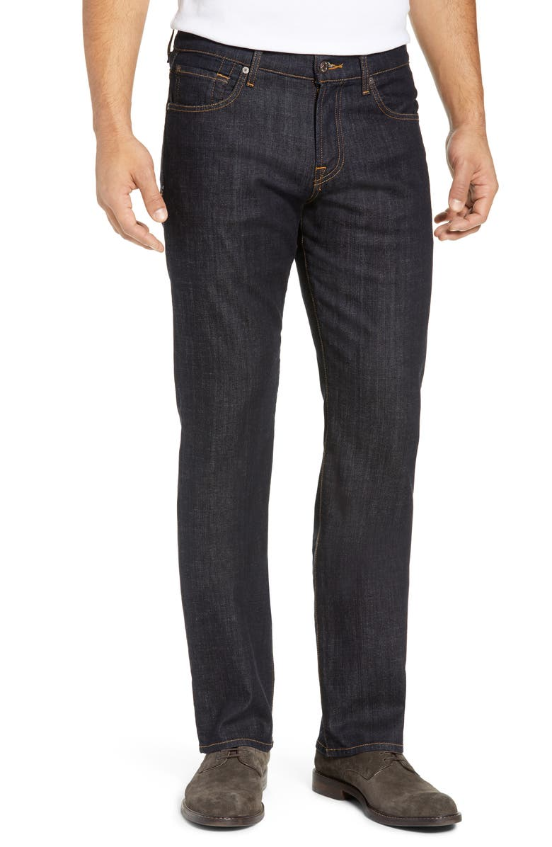 7 FOR ALL MANKIND<SUP>®</SUP> Carsen Straight Fit Jeans, Main, color, DARK AND CLEAN