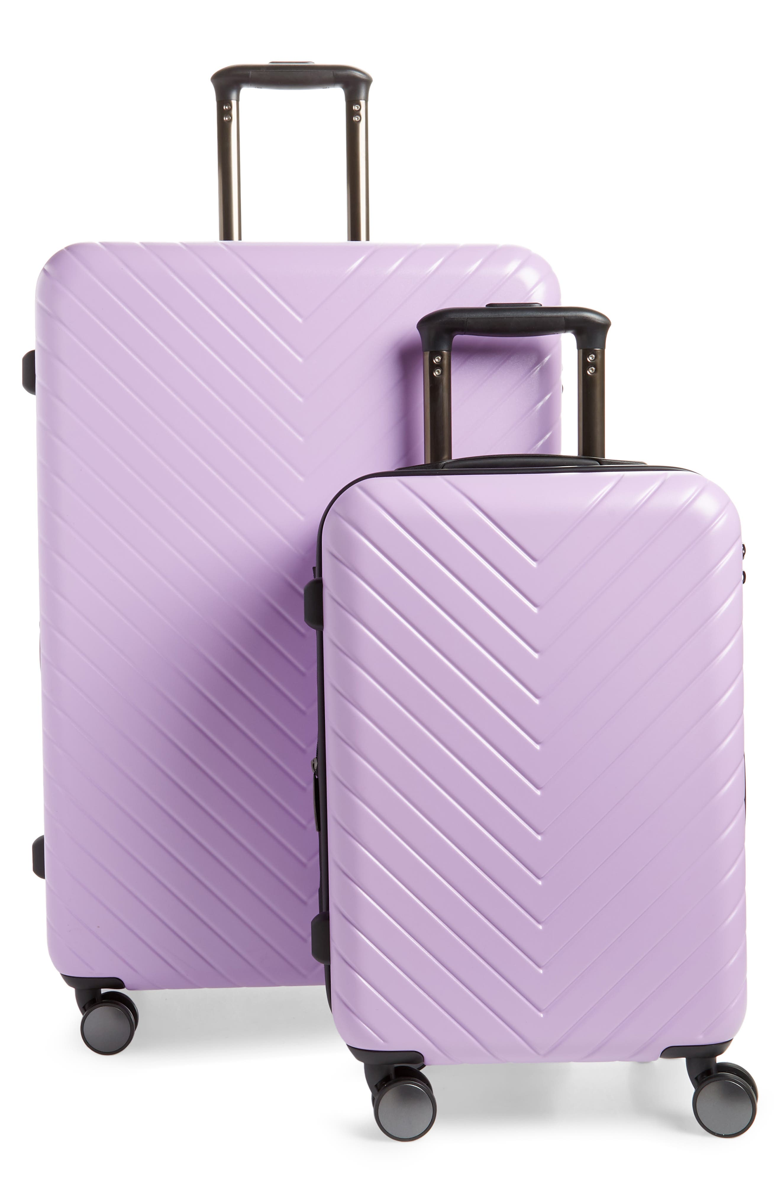 ,                             Chevron 29-Inch & 18-Inch Spinner Luggage Set,                             Main thumbnail 1, color,                             LAVENDER SWEET