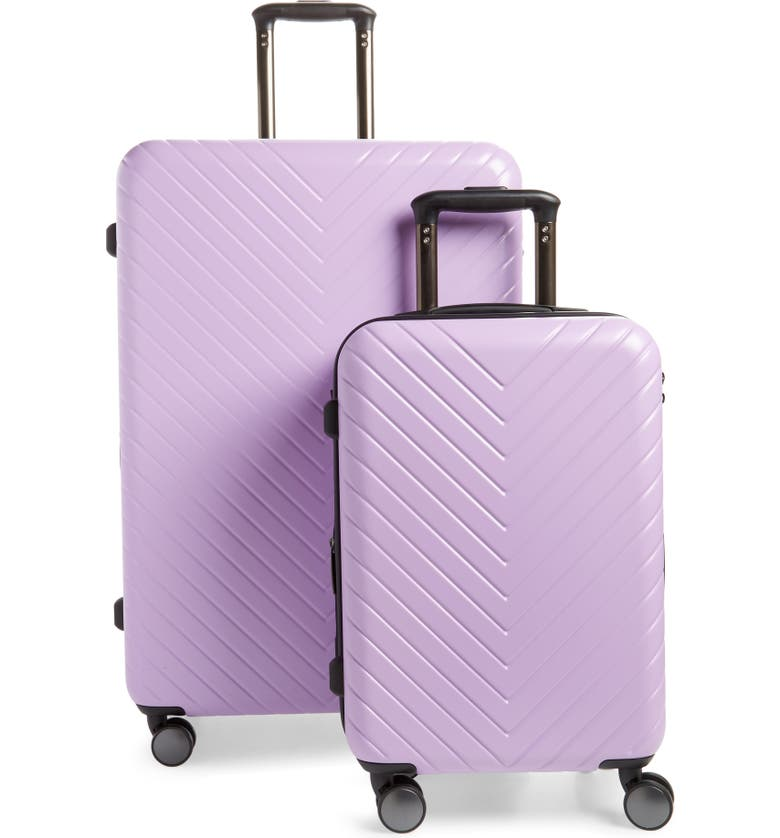 NORDSTROM Chevron 29-Inch & 20-Inch Spinner Luggage Set, Main, color, LAVENDER SWEET