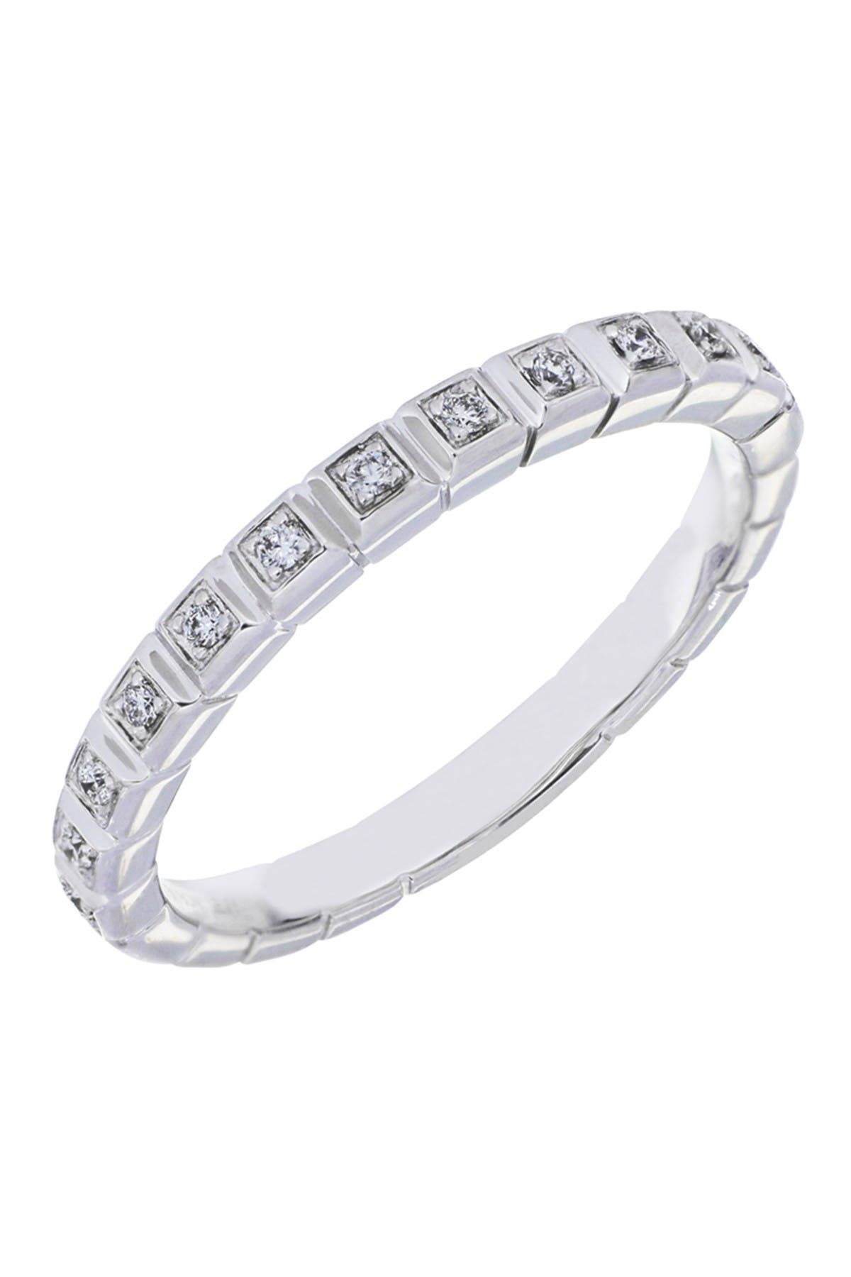 Image of Bony Levy 18K White Gold Diamond Stacking Ring - 0.07 ctw