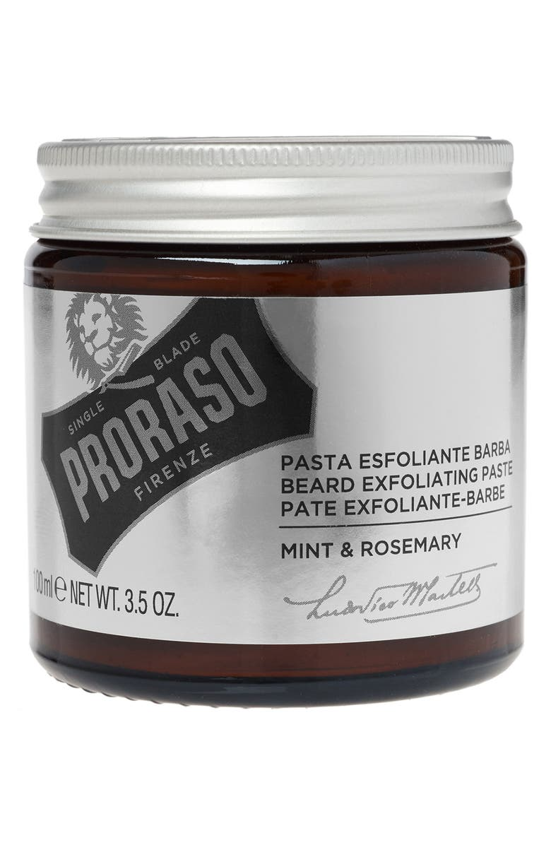 PRORASO Men's Grooming Beard Exfoliate Paste, Main, color, NO COLOR