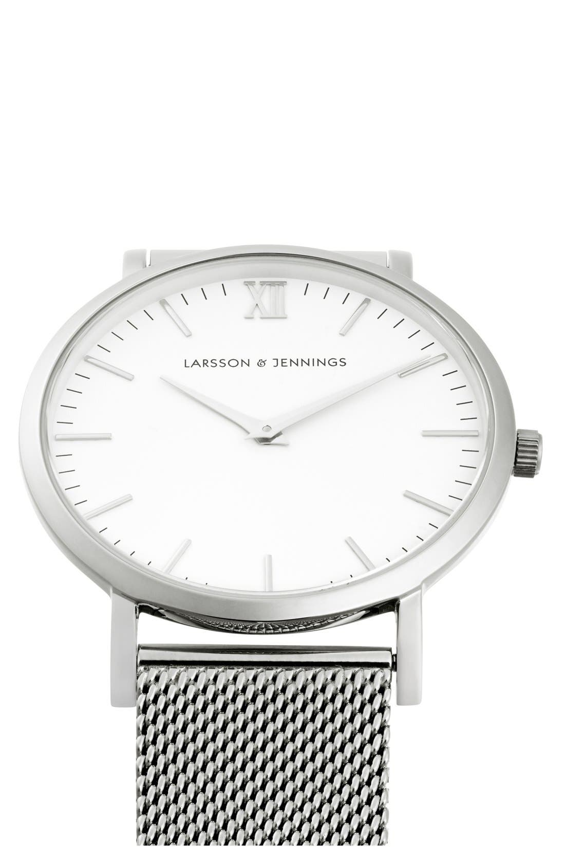 ,                             Lugano Mesh Strap Watch, 40mm,                             Alternate thumbnail 17, color,                             040