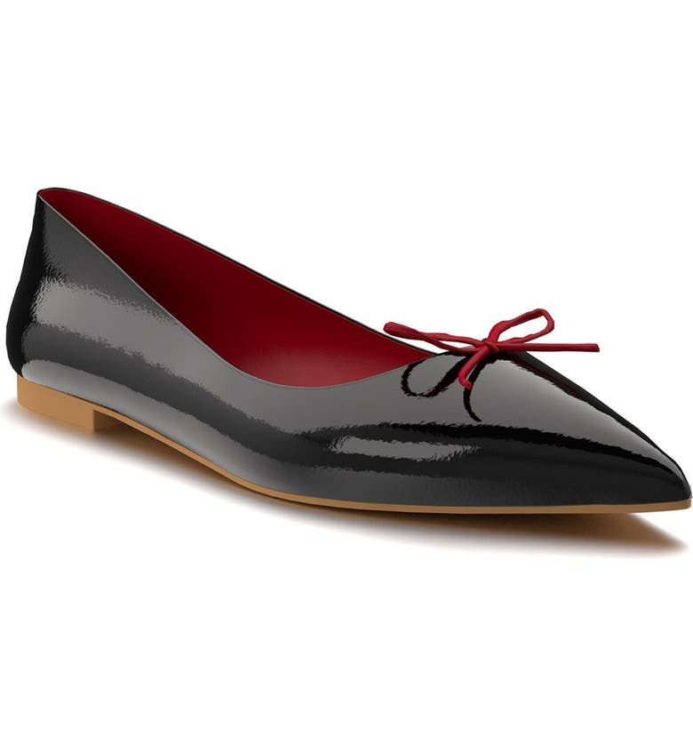 SHOES OF PREY Pointed Toe Flat, Main, color, 002
