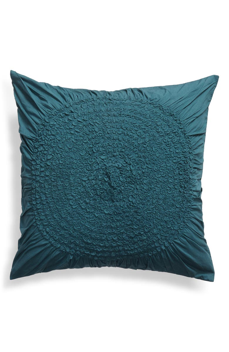 NORDSTROM AT HOME 'Chloe' Euro Sham, Main, color, TEAL GAZER