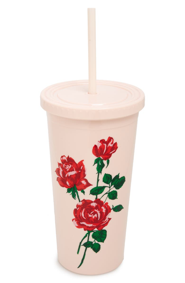 BAN.DO Sip Sip Accept This Rose Travel Tumbler, Main, color, 600