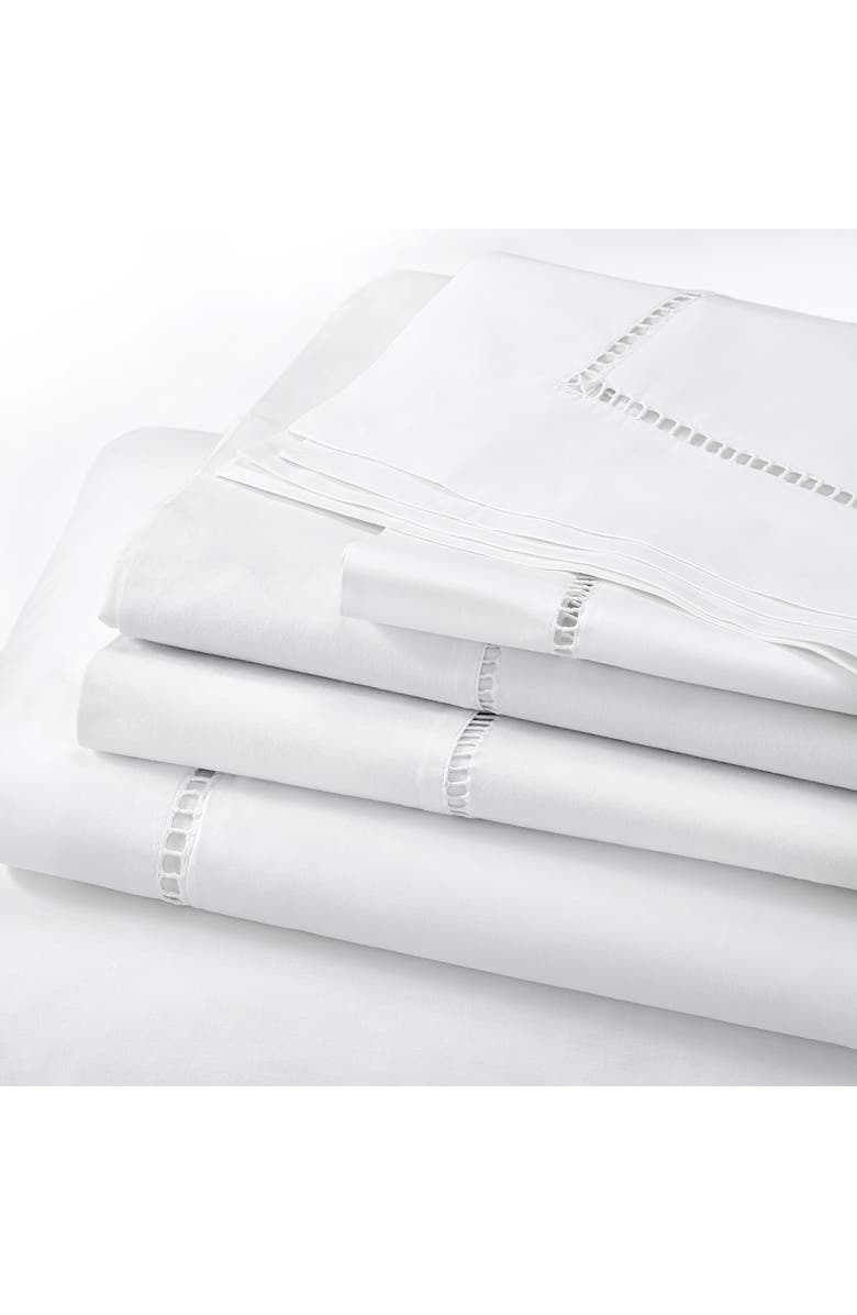THE WHITE COMPANY Santorini Duvet Cover, Main, color, WHITE