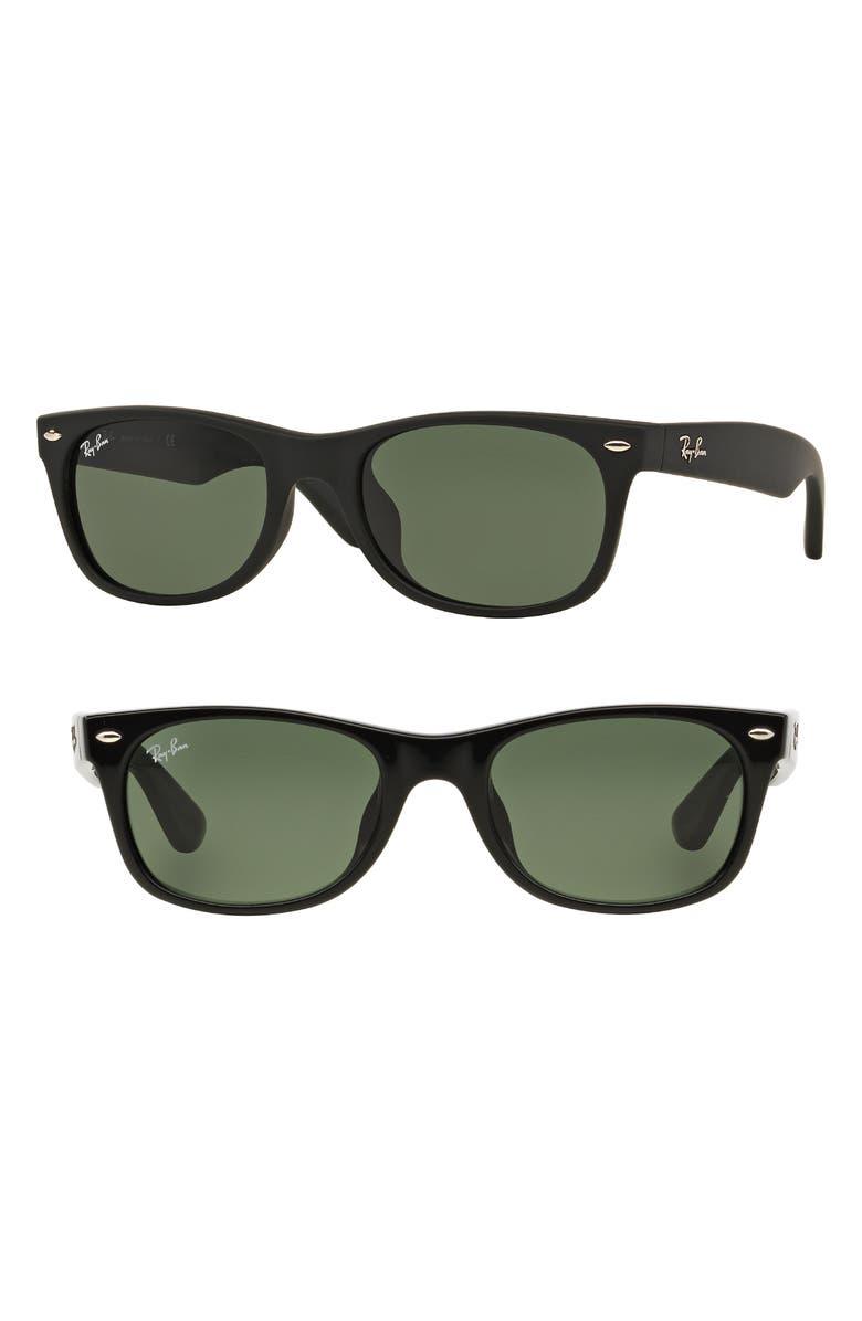 RAY-BAN New Wayfarer Classic 58mm Sunglasses, Main, color, 001